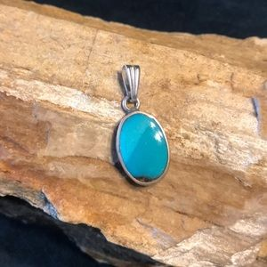 Jewelry - Native American Sterling & Turquoise Pendant